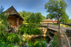 Old wooden house. A museum Uzhhorod Ukraine Royalty Free Stock Image