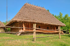 Old wooden house. A museum Uzhhorod Ukraine Stock Images