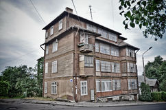 Old wooden house. The old house constructed of a tree Royalty Free Stock Photos