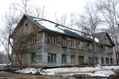 The old wooden house Stock Photo