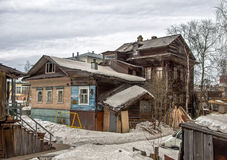 Old wooden house in Arkhangelsk. In the North of Russia Royalty Free Stock Photography