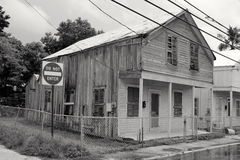 Old Wooden House that Cannot Be Entered Stock Images