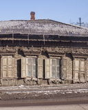 The Old wooden house. The city of Irkutsk Royalty Free Stock Photo