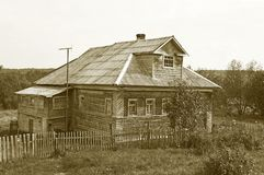 Old wooden house in the country stock photos