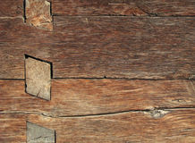 Old wooden house detail. Close-up Royalty Free Stock Photo