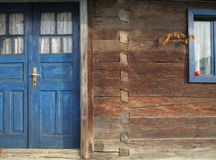 Old wooden house detail Royalty Free Stock Images