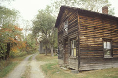 Old wooden, house on a dirt road, PA Royalty Free Stock Photo