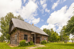 Old wooden house in Eastern europe for print Stock Image