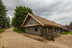 Old wooden house in Eastern europe for print Stock Images
