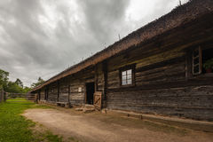 Old wooden house in Eastern europe Stock Photos