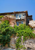 The old wooden house on the hill in the historic part of Istanbu Royalty Free Stock Photo