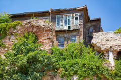 The old wooden house  in the historic part of Istanbul Royalty Free Stock Image