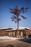 Old wooden house in the Irkutsk city Stock Image
