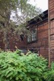 Old wooden house in the Irkutsk city Stock Photo