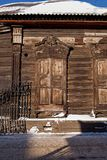 Old wooden house in the Irkutsk city Stock Images