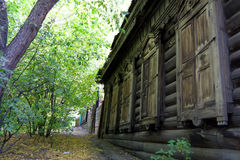 Old wooden house in Irkutsk Stock Photos