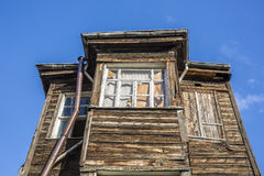 Old wooden house in Kadirga district of Istanbul, Turkey Royalty Free Stock Photo