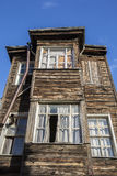 Old wooden house in Kadirga district of Istanbul, Turkey Stock Photo