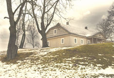 Old wooden house in Kernave, Lithuania Stock Photography