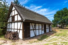 Old wooden house in Kluki, Poland Royalty Free Stock Photography