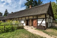 Old wooden house in Kluki, Poland Stock Photography