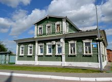 Old wooden house in Kolomna Russia stock image