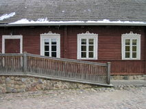 Old wooden  house, Lithuania Royalty Free Stock Photography
