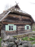 Old wooden  house, Lithuania Stock Photos