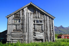 Old  wooden house of Lofoten Stock Image