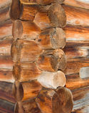 Old wooden house .Log cabin background royalty free stock images