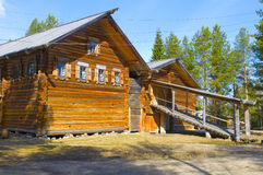 Old wooden house in Malye Karely (Little Karely) near Arkhangels Stock Images