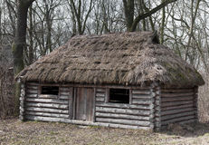 Old wooden house - medieval. Old house made from wood - medieval Stock Image