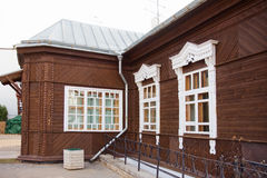 Old wooden house in Minsk, Belarus Stock Photos