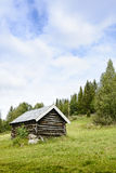 Old wooden house in mountain - vertical. Norway Stock Images