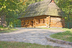 Old wooden house, a museum Uzhhorod Royalty Free Stock Image