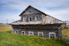 Old wooden house. North, Russia Stock Photos
