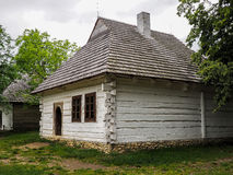 Old wooden house painted white Royalty Free Stock Images
