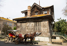 Old Wooden House in Princes Islands Royalty Free Stock Photo