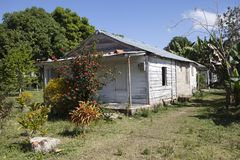 Old wooden house in rural areas in Cuba.  Royalty Free Stock Image
