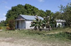 Old wooden house in rural areas in Cuba.  Stock Photography