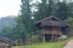 Old wooden house rural areas Royalty Free Stock Image