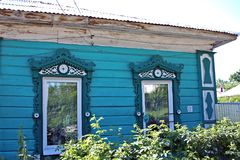 Old wooden house in Russia Stock Images