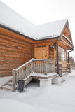 Old wooden house. The old wooden house in Russian village Royalty Free Stock Photography