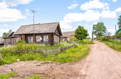 Old wooden house. Royalty Free Stock Photography