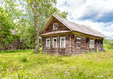 Old wooden house. Royalty Free Stock Photos