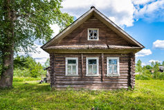 Old wooden house in Russian village Stock Image