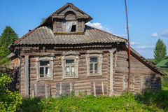 Old wooden house in a Russian village Royalty Free Stock Photography