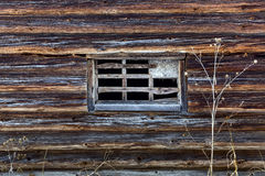 Old wooden house in russian village Stock Photos