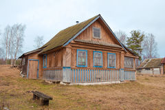 Old wooden house in the Russian village Royalty Free Stock Images