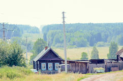 Old wooden house in Russian village Royalty Free Stock Photography